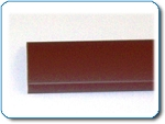 Brown Wall Rail Cover (2.5m)- 2x2x100' per box of 10 @ 5#