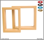 Electrical Trim Ring for Double Gang Box-Hard Maple-each