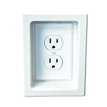 Electrical Trim Ring for Single Gang Box-White-each