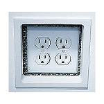 Electrical Trim Ring for Double Gang Boxes-White-each