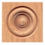 3-3/8' X 3-3/8' X 3/4' thick Red Oak Rosette-each