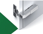 Hinge-Tiomos Impresso 110/90E degree SOFT-closing Blind corner hinge for inset doors-42/45 pattern-each (box of 100)