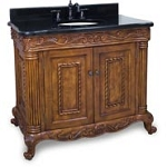Golden Pecan Burled Ornate Vanity
