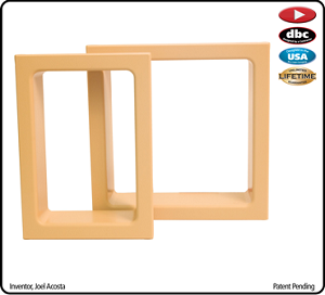 Electrical Trim Ring for Single Gang Box-Hard Maple-each