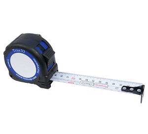 5 meter True32 Metric Reverse Tape Measure-Heavy Duty 25mm Blade-each