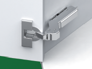 Hinge-Tiomos Impresso 110/45E degree SOFT-closing Angle corner hinge for inset doors-42/45 pattern-each (box of 100)